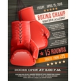 Gloves Boxing Poster vector image