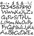 handwritten brush script vector image
