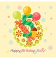 Happy birthday badge icon vector image