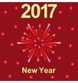 Happy New Year 2017 text and fireworks vector image vector image
