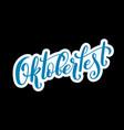 happy oktoberfest poster vector image vector image
