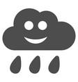 happy rain cloud flat icon vector image