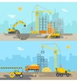 House Construction Composition vector image
