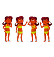 indian girl kid poses set hindu school vector image vector image