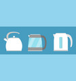 kettle simple icon isolated kitchen appliance vector image