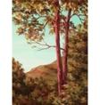 Landscape Autumn Trees vector image vector image