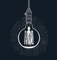 light bulbs on black background vector image