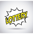 lottery casino game icon vector image vector image