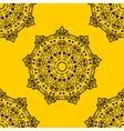 mandala on background seamless pattern vector image vector image