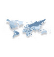 modern political map of world distorted design vector image vector image