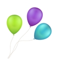 Multicolored Colorful Balloons Isolated vector image