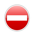 no entrance sign red vector image vector image