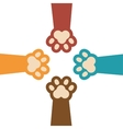 paw print kitti set icon design vector image