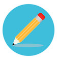 pencil icon signs education in trendy flat vector image vector image