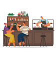 people drinking coffee and eating dessert vector image vector image