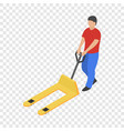 pushcart icon isometric style vector image vector image