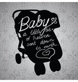 Quotes on baby stroller carriage vector image vector image