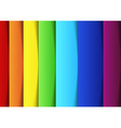 Rainbow lines - new banner template vector image vector image