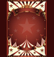 red vintage circus background vector image vector image