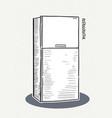 refrigerator a sketch style vector image vector image