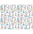 seamless pattern from chemical glassware vector image