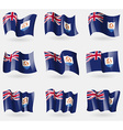 Set of Anguilla flags in the air vector image vector image