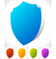 shield shape for protection defense concept vector image