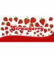 strawberry pattern on white background with vector image vector image