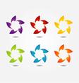 Stylized flower design element vector image vector image