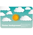 sunny-cloudy background paper vector image vector image