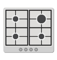 Surface of White Gas Hob Stove vector image
