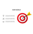 target with dart icons and text infographic vector image