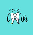 tooth character sketch for your design vector image vector image