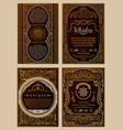 vintage set retro cards template greeting card vector image vector image