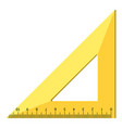 wood triangle ruler icon realistic style vector image