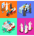 Arabian Business Isometric People vector image