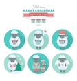 Holiday icons set with sheep in flat vector image
