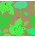 pattern with the image of silhouettes and contours vector image