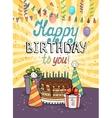 Happy Birthday greeting card or invitation vector image