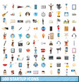 100 startup icons set cartoon style vector image vector image