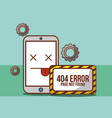 404 error page not found vector image vector image