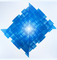 abstract blue technology geometric corporate vector image vector image