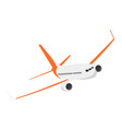 airplane on a isolated white background flat vector image