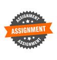 assignment sign circular band label