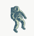 astronaut floating in space scratchboard vector image vector image
