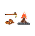 authentic items and tools native american vector image vector image