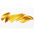 background of a gold brushstroke oil or acrylic vector image vector image