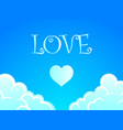 background with romantic blue sky vector image vector image