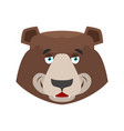 bear happy emoji grizzly merry emotion face wild vector image