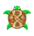 Beautiful turtle vector image